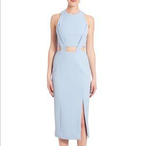 Nicholas waist cut out dress in cashmere blue